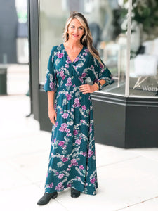 THE STELLA FLORAL MAXI DRESSES - 2 colors