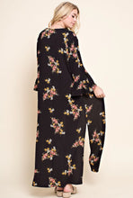 Load image into Gallery viewer, FLORAL KIMONO WITH SIDE SLIT