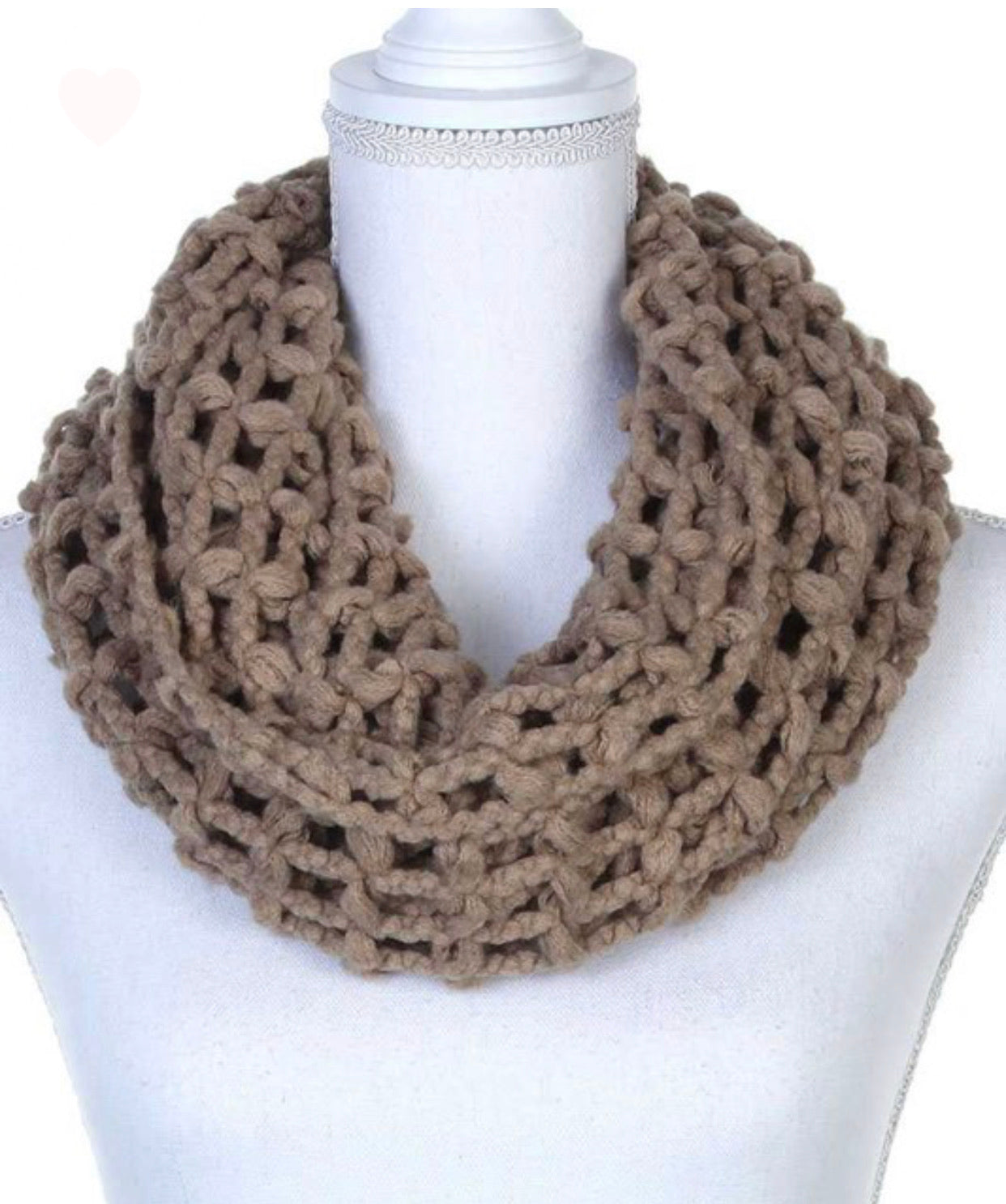 KNIT INFINITY SCARVES - various colors