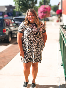 THE BECKY LEOPARD SHIRT DRESS