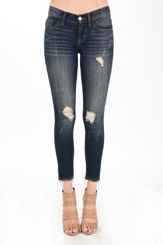 DARK WASH SLIGHT DISTRESSED DENIM- Judy Blue