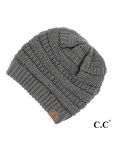 Load image into Gallery viewer, CC SOLID RIBBED ORIGINAL BEANIE HATS