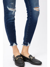 Load image into Gallery viewer, THE VICTORIA MID RISE ANKLE DISTRESSED DENIM