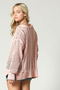 OPEN WEAVE SUPER SOFT SWEATER