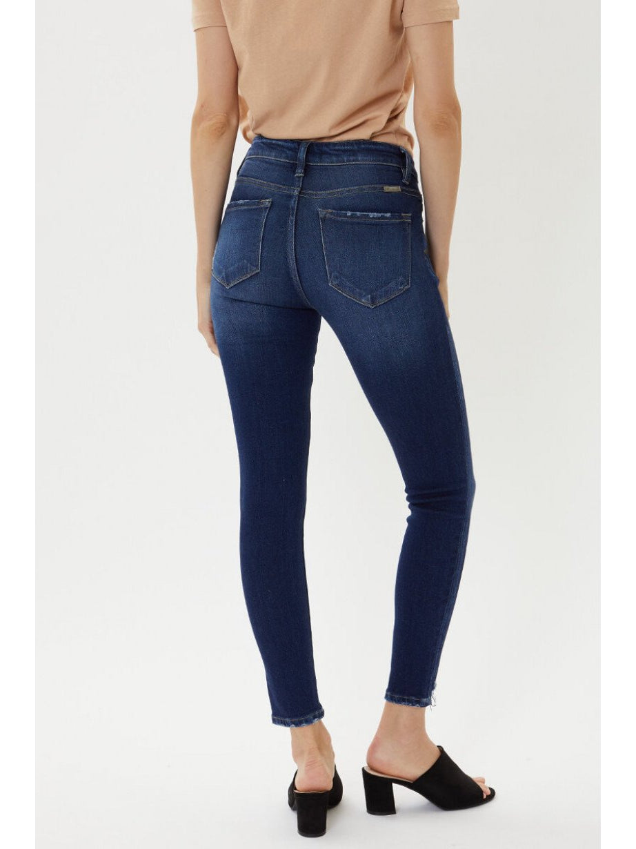 THE GABBY MID RISE ANKLE SKINNY DENIM