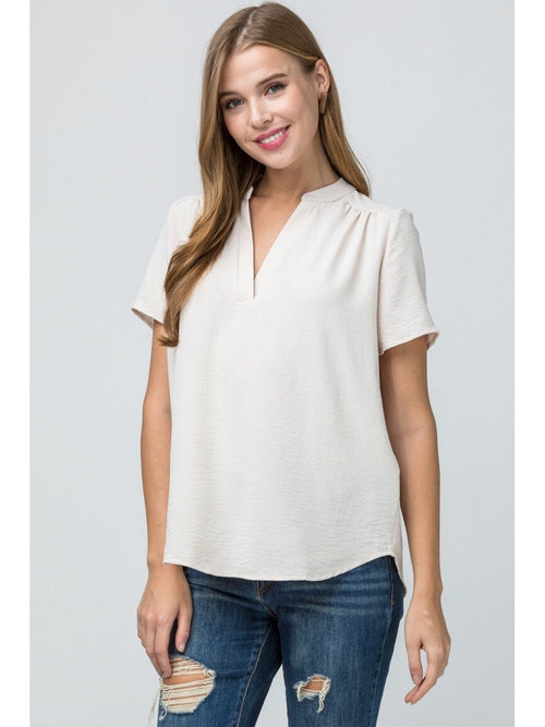 THE BECKY V-NECK BLOUSE - 2 colors