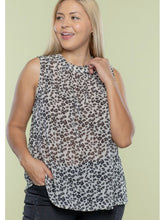 Load image into Gallery viewer, THE MEGAN ANIMAL PRINT SLEEVELESS BLOUSE