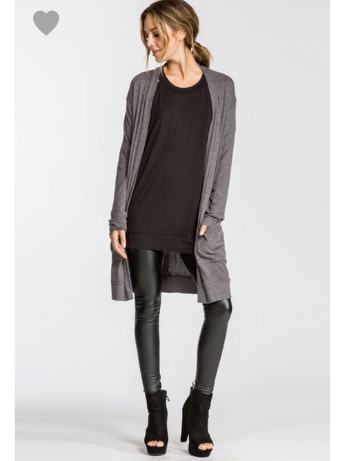 THE KATE BRUSHED KNIT CARDI - 4 colors