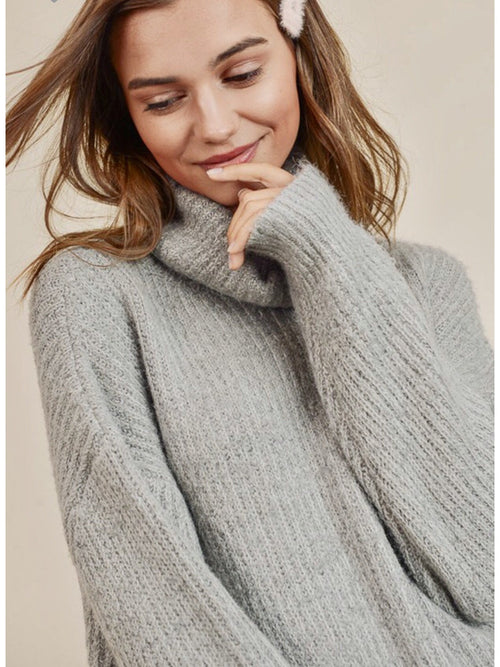 THE MICHELLE TURTLENECK SWEATER - 2 colors