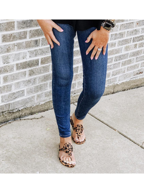 THE KENZIE LEOPARD SANDALS