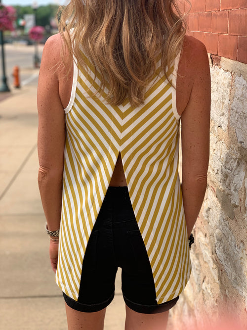 THE WELLS SLEEVELESS BACK SLIT TOP - 2 colors