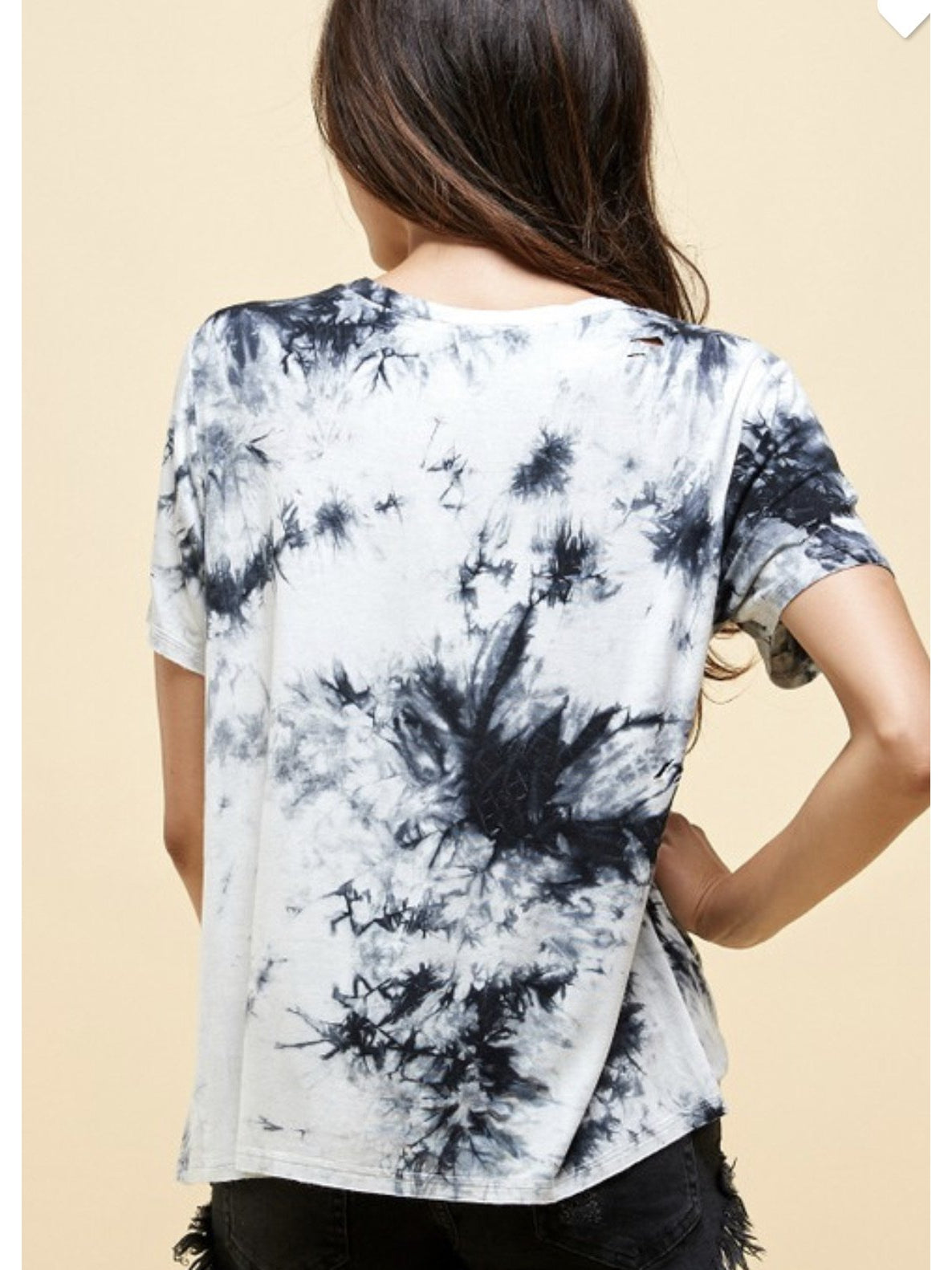 THE JENA TIE DYE DISTRESSED TEE