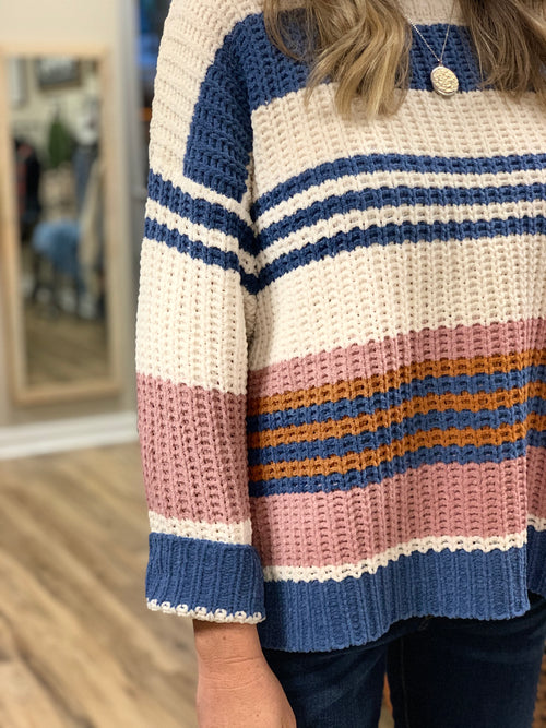 THE JENA STRIPED SWEATER
