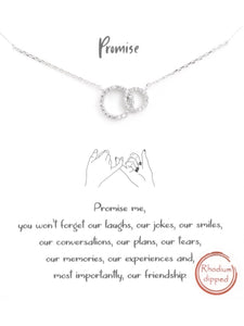 FRIENDSHIP PROMISE CIRCLE LINK NECKLACE