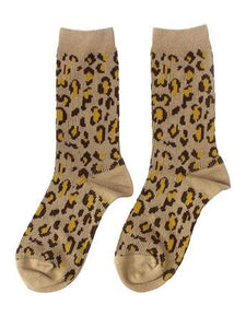 LEOPARD ANKLE BOOT SOCKS