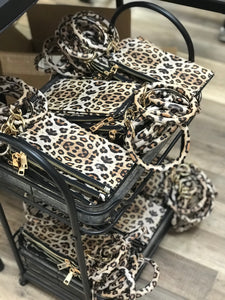 LEOPARD KEY RING AND LONG WALLET