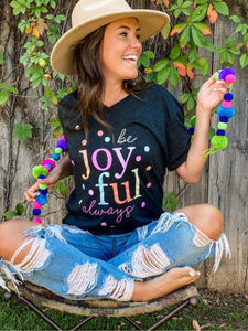 CONFETTI BE JOYFUL V NECK TEE