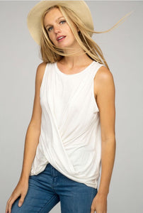 TWISTED FRONT KNIT SLEEVELESS