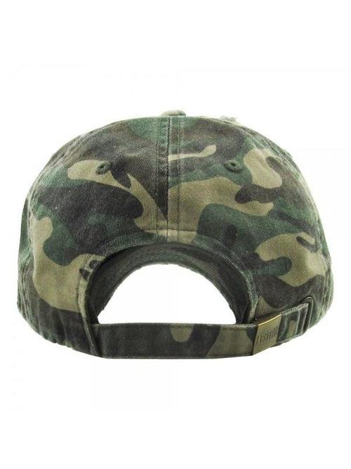 THE FLAG HAT - olive camo