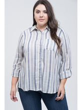 Load image into Gallery viewer, THE CHARLOTTE BUTTON UP STRIPED SHIRT - 2 colors