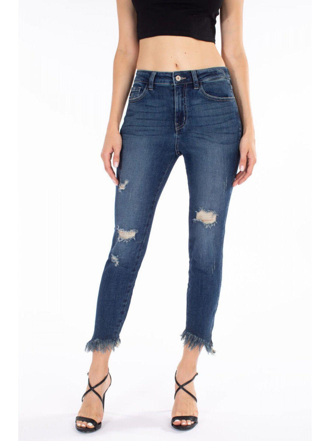 THE GLORIA HIGH RISE ANKLE DENIM-Jeans-j boutique