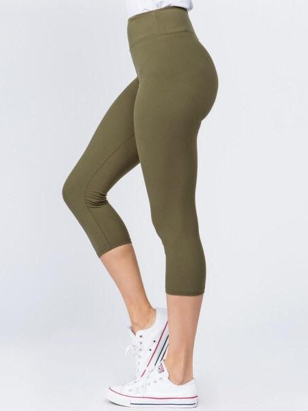 THE MARLEE CROP LENGTH LEGGINGS - numerous colors