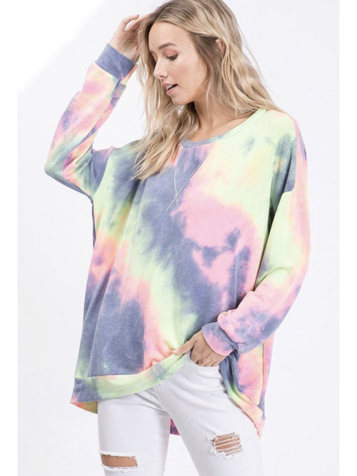 PREORDER THE NELLIE TIEDYE PULL OVER - 2 colors-Sweatshirts-j boutique