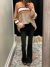 Load image into Gallery viewer, THE SHELLY PEACH STRIPED SWEATER