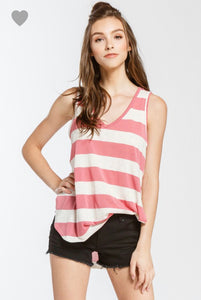 THE MAGGIE STRIPED VNECK - 2 colors
