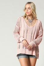 Load image into Gallery viewer, OPEN WEAVE SUPER SOFT SWEATER