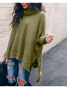 THE AMIE WAFFLE KNIT COWL NECK TOP