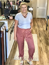 Load image into Gallery viewer, THE RACHEL TIE JOGGERS - 2 colors-Pants-j boutique