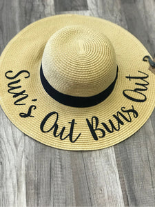 CC SUN NATURAL PAPER STRAW WIDE BRIM HATS