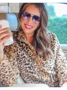 THE LOLA FAUX FUR LEOPARD PULLOVER