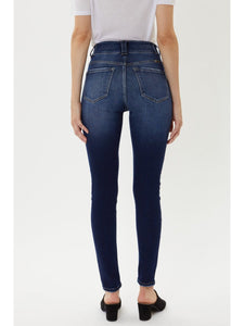 THE NATASHA HI WAIST DARK DENIM
