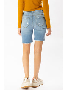 THE JACE BUTTON FLY DENIM SHORTS
