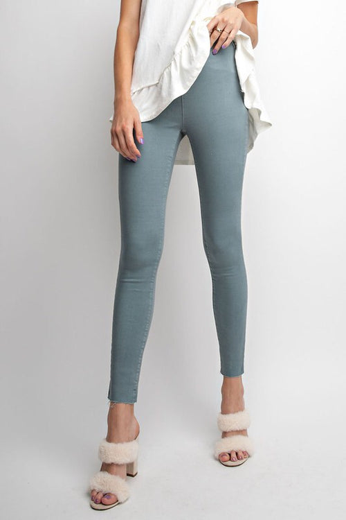 NO ZIP COLORED PANTS - 2 colors