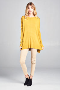 SOFT OVERSIZED LT SWEATER -4 colors