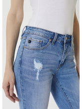 Load image into Gallery viewer, THE LIBBY MID RISE DISTRESSED DENIM