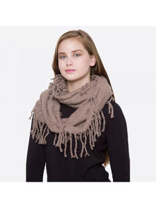 SOLID COLOR SWEATER KNIT INFINITY SCARF