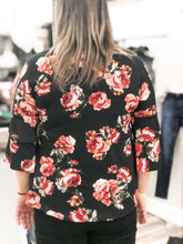 Load image into Gallery viewer, THE POLY FLORAL TIER SLEEVE TOP