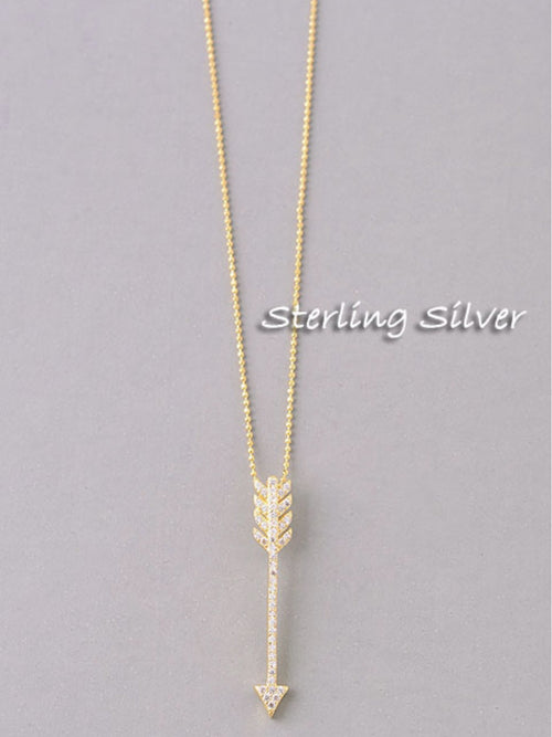 STERLING SILVER ARROW PENDANT NECKLACE