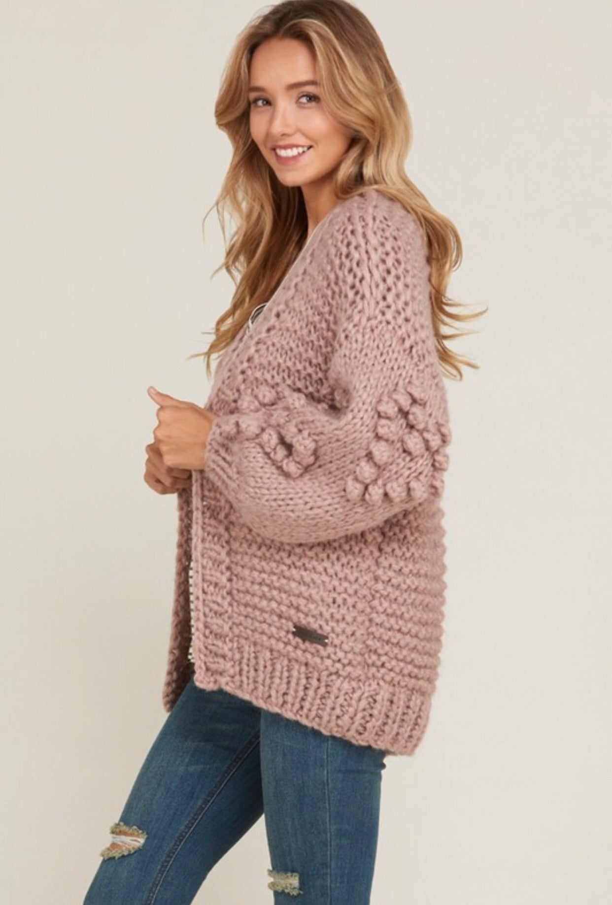HAND SPUN POPCORN BALL SWEATER