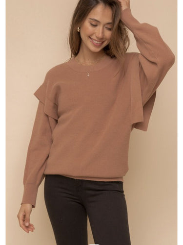 THE VAL SHOULDER DETAIL SWEATER