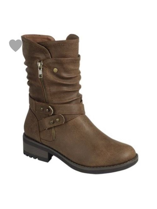 THE ALANIS SLOUCH BOOTS - brown
