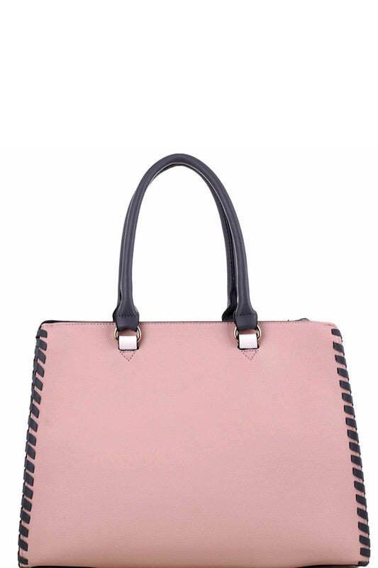 THE RHONDA 2 IN 1 COLOR BLOCK TOTE