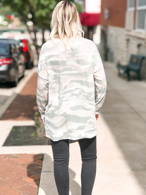 THE SARA CAMO SWEATSHIRT