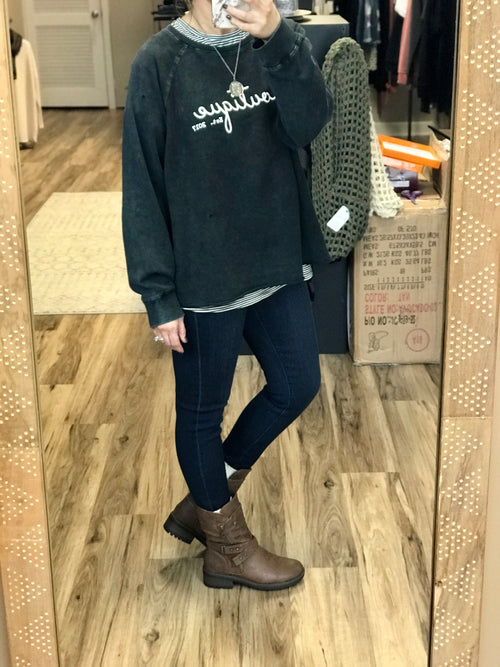 J BOUTIQUE DISTRESSED SWEATSHIRT