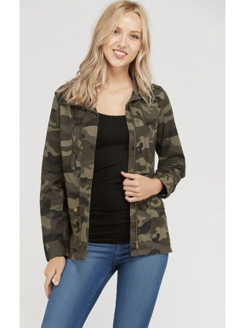 THE KIM CAMO ZIP UP JACKET