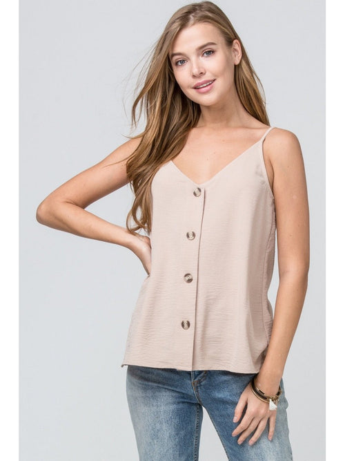 THE ZOEY BUTTON UP CAMI - 3 colors